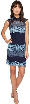Laundry by Shelli Segal Mock Neck Lace Shift Dress Women's Dress