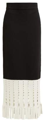 Staud - Garage Stretch Knit Maxi Skirt - Womens - Black White