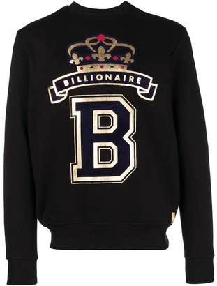 Billionaire foiled logo sweatshirt