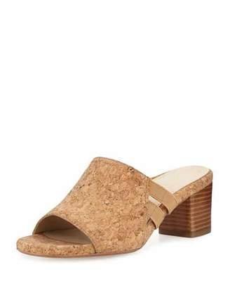 Taryn Rose Rimba Cork Chunky-Heel Sandal, Natural $239 thestylecure.com