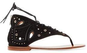 IRO Embellished Nubuck Sandals