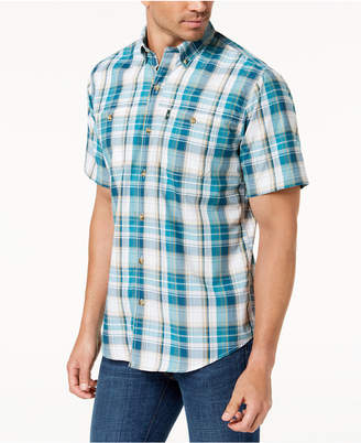 G.H. Bass & Co. Men's Sportsman Plaid Shirt with Uv Protection