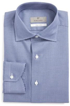 Canali Regular Fit Geometric Dress Shirt