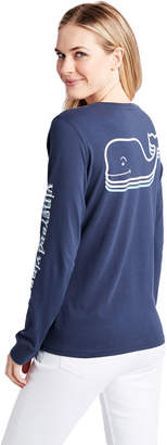 Vineyard Vines Long-Sleeve Stacked Whale Pocket Tee