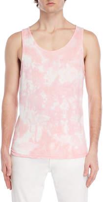 Bellfield Pink Tie-Dye Muscle Tank