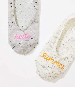 LOFT Hello Summer No Show Sock Set