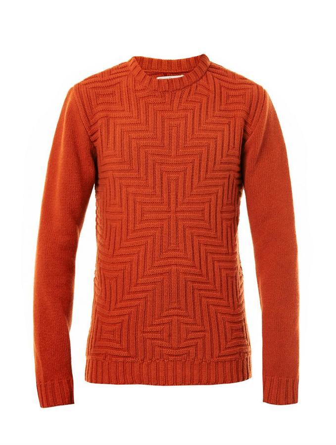 Oliver Spencer David geometric-weave sweater