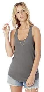 Alternative Women's Satin Jersey Shirttail Tank