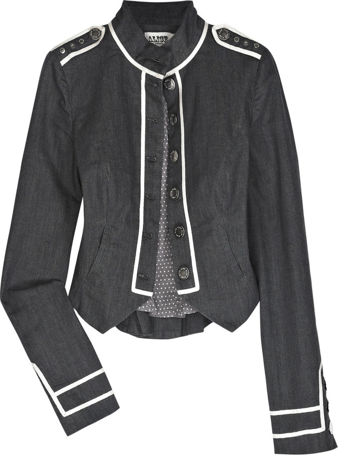 Alice by Temperley Cardinal denim military jacket