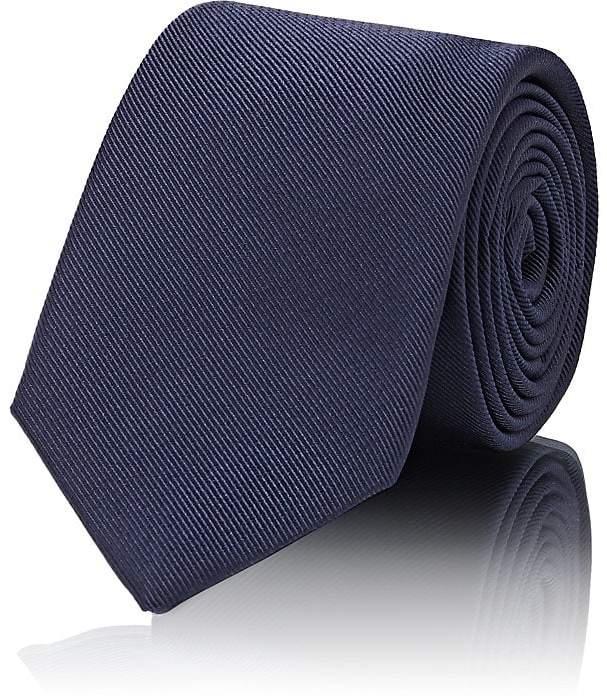 Men's Silk-Cotton Faille Necktie