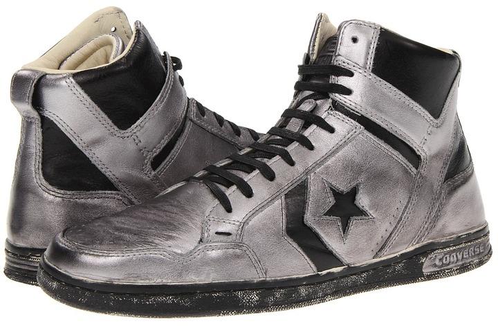 Converse by John Varvatos - Weapon Mid (Silver/Black) - Footwear