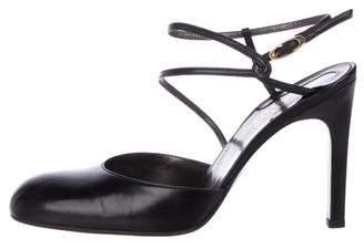 Gianni Versace Leather Slingback Pumps