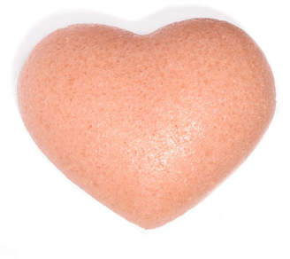 One Love Organics Cleansing Sponge French Pink Clay Heart