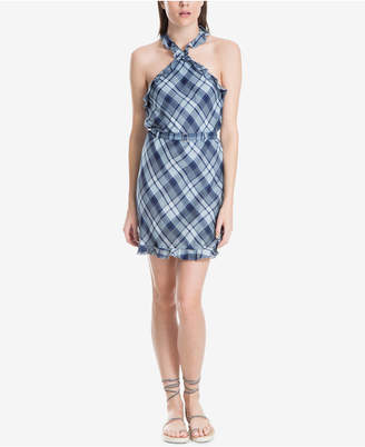 Max Studio London Ruffle-Trim Belted Halter Dress, Created for Macy's