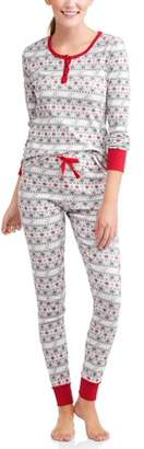Family PJs Family Sleep Fairisle Cotton Tight Fit Pajamas, 2-piece Set (Women's)