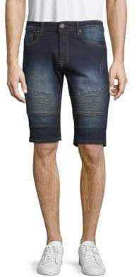 X-RAY Jeans Moto Denim Shorts