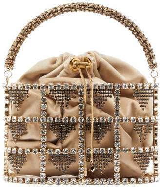 Rosantica By Michela Panero - Minerva Crystal Embellished Cage Clutch - Womens - Gold Multi