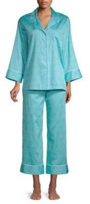 Natori Two-Piece Printed Cotton Pajama Set