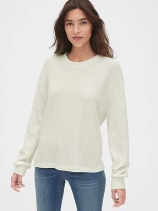 Gap Slouchy Waffle Stitch Crewneck Sweater