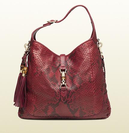 Gucci New Jackie Python Shoulder Bag