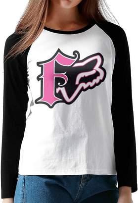 Fox Racing GUOZX Womens Girl T-Shirts Long Sleeve T Shirt XXL