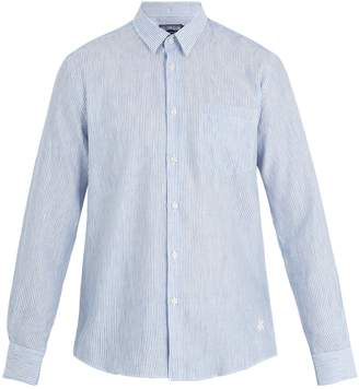 Vilebrequin Caroubis striped linen and cotton-blend shirt
