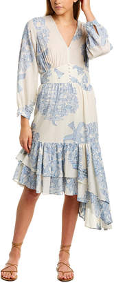 Robert Rodriguez Paisley Floral Midi Dress