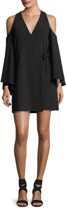 Alexis Tyra V-Neck Cold-Shoulder Crepe Dress