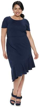 Plus Size Suite 7 Ruffle Fit & Flare Dress