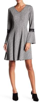 Robbie Bee V-Neck Bell Sleeve Dress