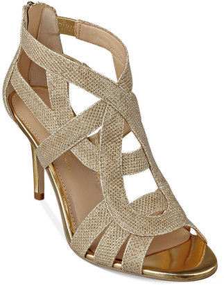 Marc Fisher Nala Mid Heel Evening Sandals $79 thestylecure.com