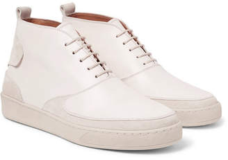 McCaffrey Suede-Trimmed Leather High-Top Sneakers