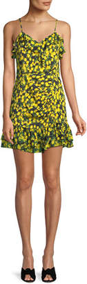 Parker Erica Lemons Ruffle Mini Dress