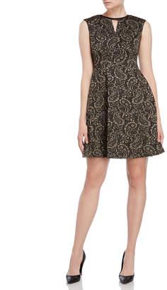 Tommy Hilfiger Metallic Paisley A-Line Dress
