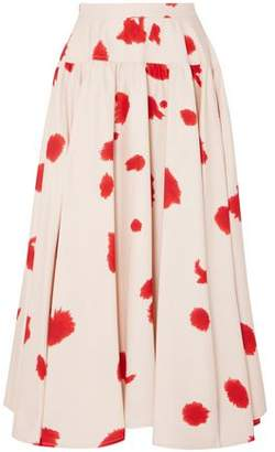 Calvin Klein Gathered Printed Silk Maxi Skirt