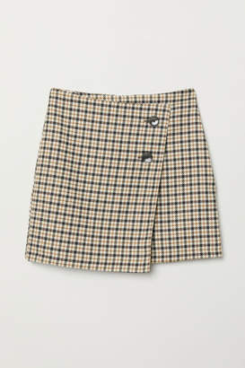 H&M Checked Skirt - Beige