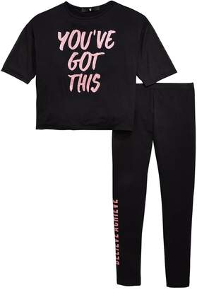 Very Girls 'You've Got This' T-shirt & Legging Outfit