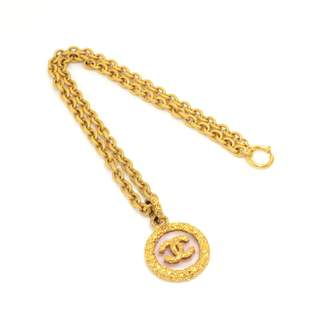 Chanel Vintage CC Gold Metal Necklace