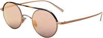 Giorgio Armani AR6044 Rose Gold-Tone & Tortoiseshell-Look Round Sunglasses