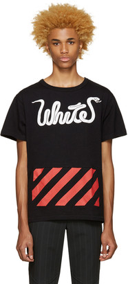 Off-White Black White Patchwork T-Shirt $280 thestylecure.com