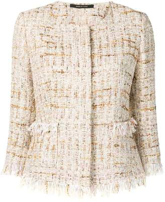 Tagliatore short tweed jacket
