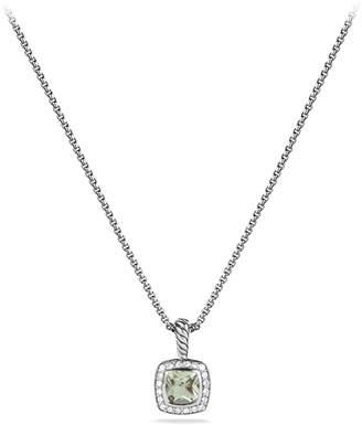 David Yurman 'Albion' Petite Pendant with Prasiolite and Diamonds on Chain