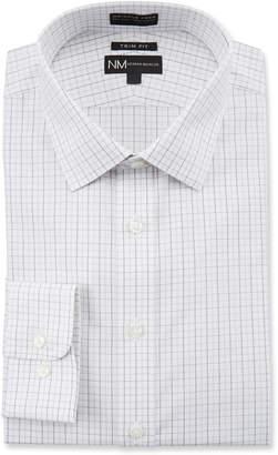 Neiman Marcus Men's Trim Fit Non-Iron Dobby Check Dress Shirt