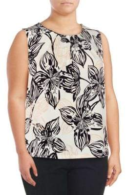 Calvin Klein Plus Printed Sleeveless Top