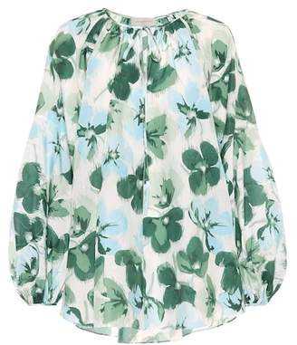 4b8b09cf94732 at mytheresa · Lee Mathews Bridget cotton and silk blouse