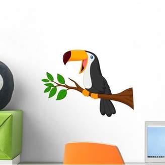 Mural Wallmonkeys LLC Cute Toucan Bird Cartoon Wall Decal by Wallmonkeys Vinyl Peel and Stick Graphic (12 in W x 9 in H)