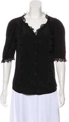 Zadig & Voltaire Lace Silk Top
