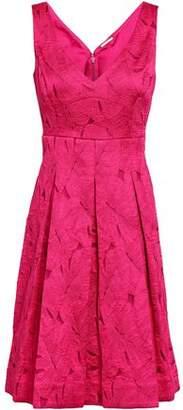 Elie Tahari Camelia Pleated Jacquard Dress