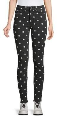 Paige Polka Dot-Print Jeans