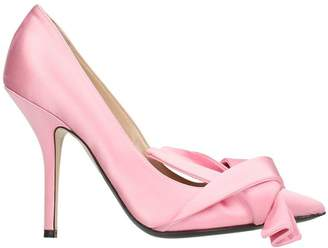 N°21 N.21 Bow Pink Satin Pumps